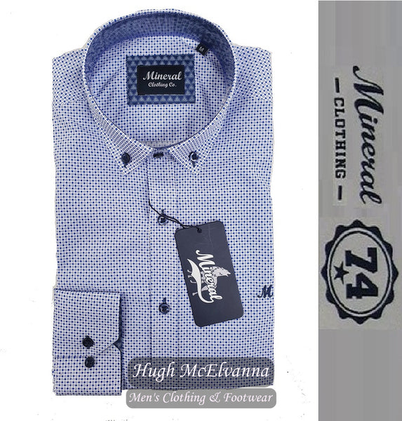 Fashion Long Sleeve Shirt by Mineral Style BERMEJA - Hugh McElvanna Menswear