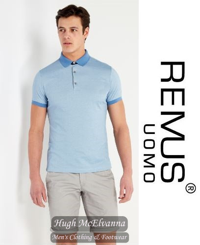Remus Uomo Blue Fashion Polo Shirt Style: 58353/22