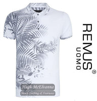 Fashion Polo Shirt Leaf Design By Remus Uomo Style: 58361/01 - Hugh McElvanna Menswear