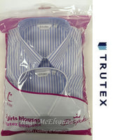 Girls Twin Pack 6th Year Stripe Blouse by Trutex - Hugh McElvanna Menswear
