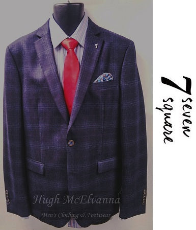 7 Square Check Jacket - Hugh McElvanna Menswear