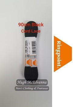 90cm Shoe/Boot Lace - Cord Lace - 3 Colour Options Available - Hugh McElvanna Menswear