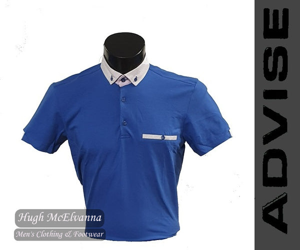 Fashion Blue Polo Shirt by Advise Style: POLO 093