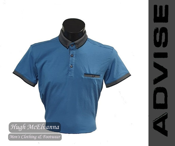 Fashion Blue Polo Shirt by Advise Style: POLO 121