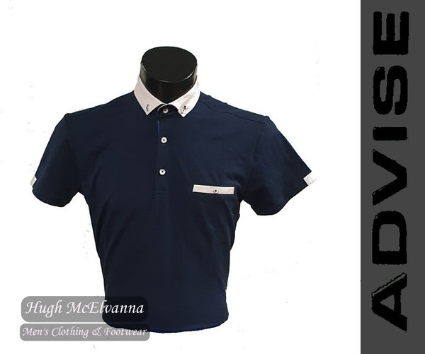 Fashion Navy Polo Shirt by Advise Style: POLO 090