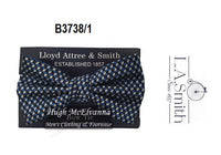 Men's Blue Patterned Bow Tie Style B3738/1 - Hugh McElvanna Menswear