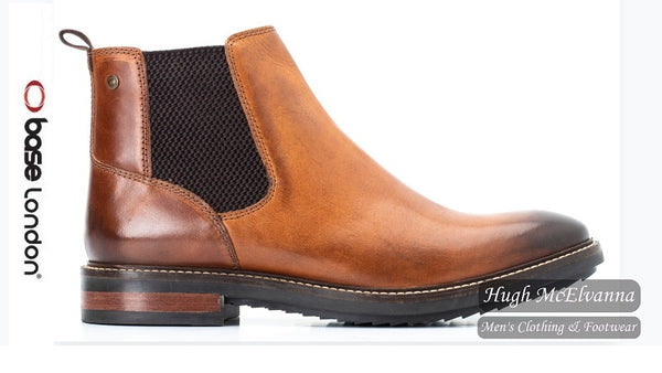 Tan Slip On Boot by Base London Style: Kingsley