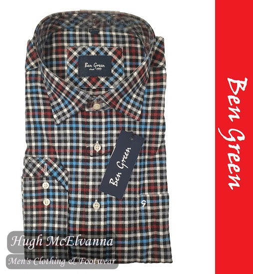 Long Sleeve Black Check Shirt by Ben Green Style: 404300