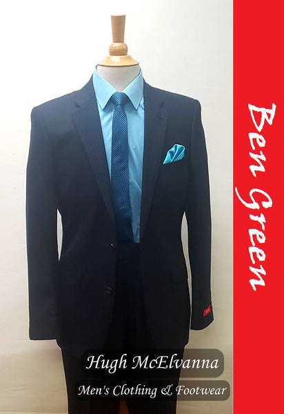 2Pc. 100% Pure Wool Suit by Ben Green Style: BG6 Navy - Hugh McElvanna Menswear