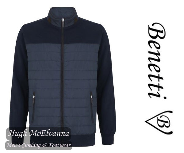 'FLOYD' Navy Casual Jacket by Benetti