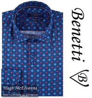 Benetti Red Long Sleeve Patterned Shirt Style: NOAH