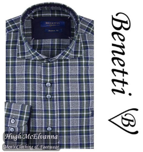 Benetti Forest Long Sleeve Check Shirt Style: TANNER