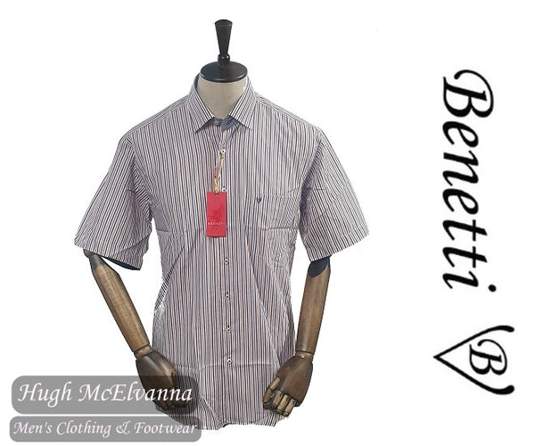 Benetti Rust Short Sleeve Shirt Style: STILO