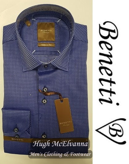 Benetti Tailored Fit Shirt Style: LOGAN - 2 Colour Options - Hugh McElvanna Menswear
