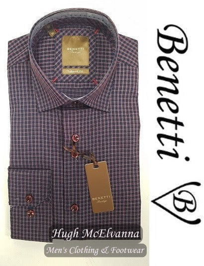 Benetti Tailored Fit Shirt Style: CARTER - Hugh McElvanna Menswear