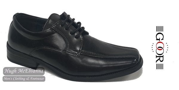 Boys Black Laced Shoe by Goor Style: 952