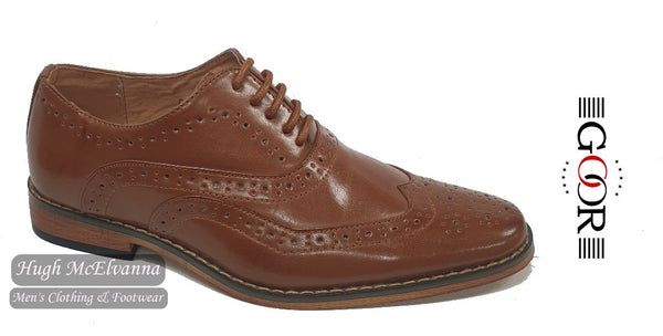 Boys Tan Laced Brogue by Goor Style: 979