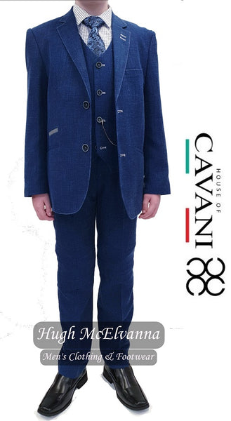 Boys 3Pc Design Fabric Suit by Cavani Style: MIAMI - Hugh McElvanna Menswear