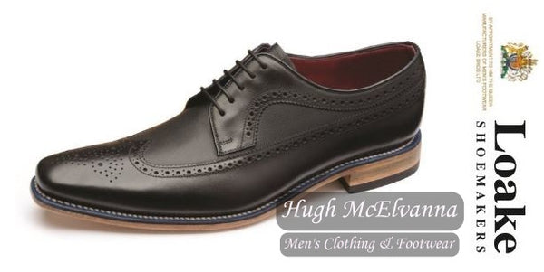 Callaghan Black Laced Shoe by Loake Shoemakers - Hugh McElvanna Menswear