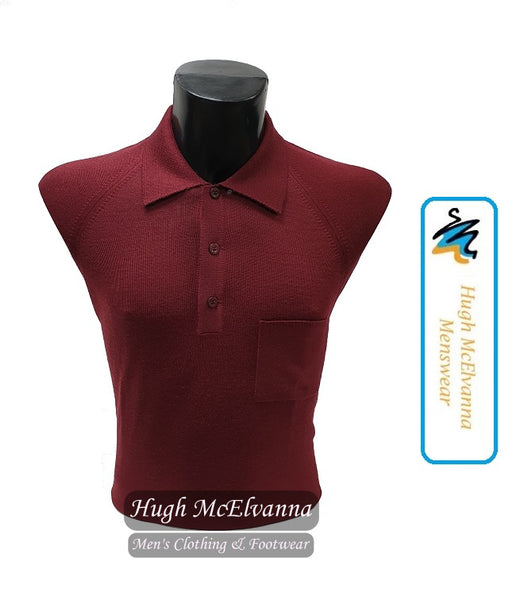 Fine Knit Long Sleeve Polo Jumper ( 2 Colour Options Available ) - Hugh McElvanna Menswear