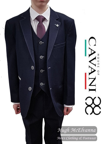 Boys 3Pc Stretch Suit by Cavani Style: FABIAN - Hugh McElvanna Menswear