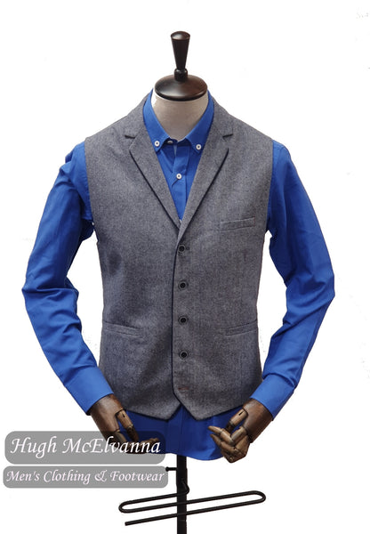 ANGELO Grey Tweed Waistcoat by House Of Cavani