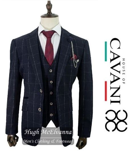 'ANGELS' Charcoal Grey Check Blazer  by House Of Cavani