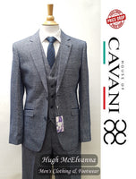 Tweed Check Fashion 3Pc. Suit by Cavani