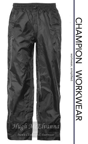 Black Champion Waterproof Leggings Style: Typhoon - Hugh McElvanna Menswear