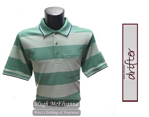 Stripe Green Polo Shirt by Drifter Style: 55102/32