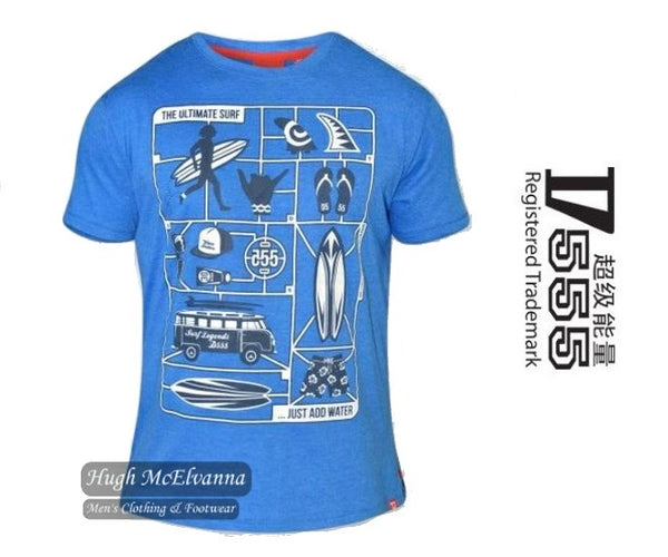 Print Front Round Neck T-Shirt by D555 Style: JARON