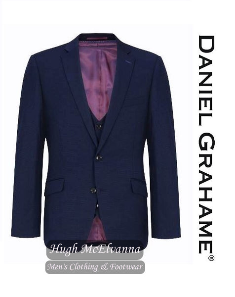 Daniel Grahame Blue Tapered Fit Design Fabric 3Pc. Suit Style: 30921/28