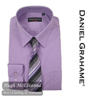 Daniel Grahame Purple Shirt & Tie Set Style: 15062T