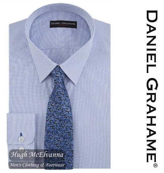 Daniel Grahame Blue Long Sleeve Formal Shirt & Tie Style: 15286T/12