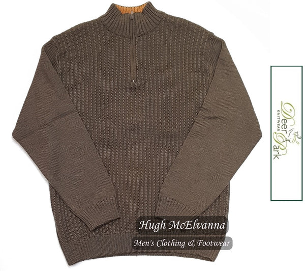 Cable Knit 1/4 Zip Pullover by Deer Park Style: D2343 - Hugh McElvanna Menswear