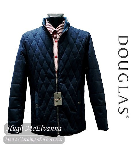 'HARDY' Blue Quilted Jacket By Douglas Style: 80302/28