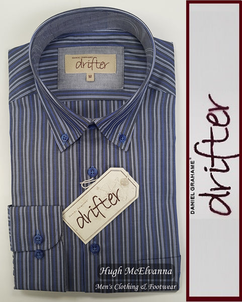 Drifter Button Down Shirt Style No: 15338 - 2 Colour Options Available - Hugh McElvanna Menswear