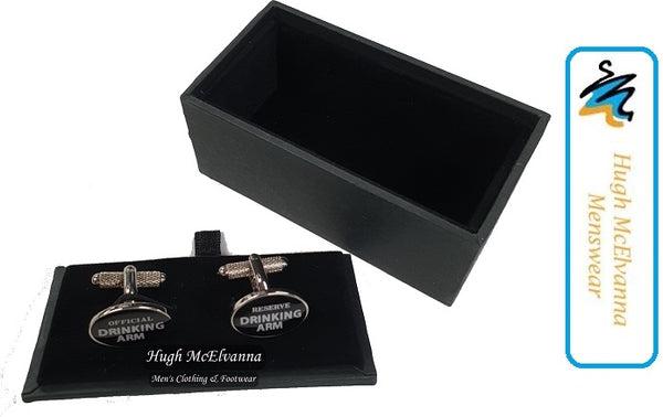Novelty Cufflink Set - Drinking Arm - Hugh McElvanna Menswear