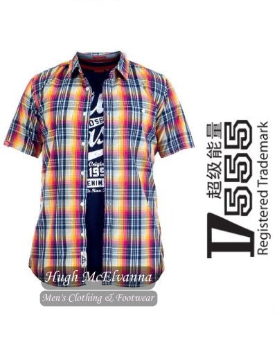 Yellow Short Sleeve Check Shirt & Tee Set