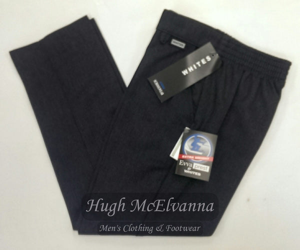 Boys Zip Grey Front Trouser by A.F. White - Hugh McElvanna Menswear
