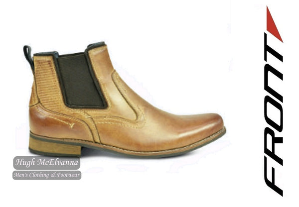 Tan Chelsea Boot by Front Style: EDMONTON