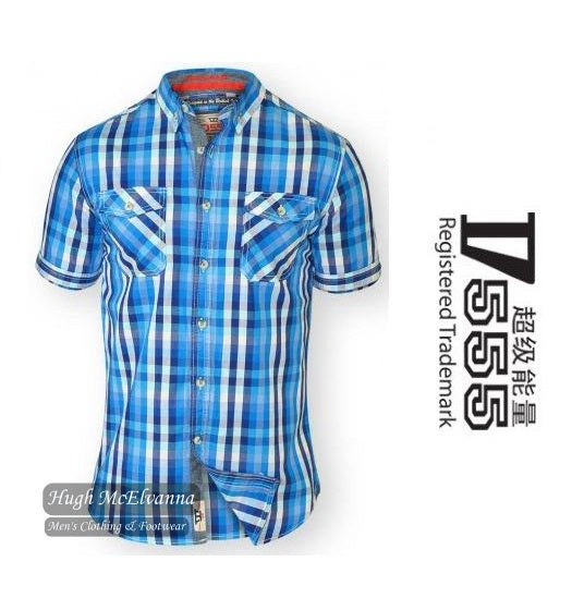 Fashion Check Short Sleeve Shirt by D555 Style: EMANUEL