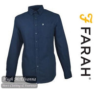 Farah 'PATTERSON' 100% Cotton Button Down Long Sleeve Shirt (2 Colour Options) Style: FAWF9016