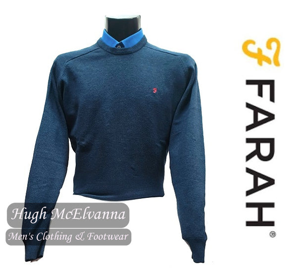 Night Sky Marl Crew Neck Pullover By Farah Style: STERN FAGS5066