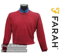 Chilli Red Crew Neck Pullover By Farah Style: STERN FAGS5066