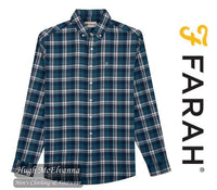 Fashion Check L.S. Button Down Shirt In 2 Colour Options By Farah Style: FAWF9017 - Hugh McElvanna Menswear