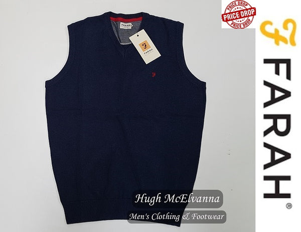 Farah Cotton Silp Over FAGS6009/487 Midnight Blue - Hugh McElvanna Menswear