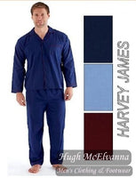 Men's Pyjamas Set Available In 3 Colour Ranges - Hugh McElvanna Menswear