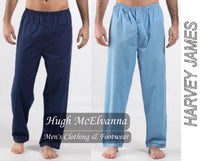Men's Pyjamas/Lounge Bottoms Twin Pack - Hugh McElvanna Menswear