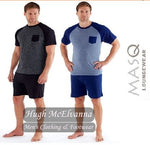 Mens Short Pyjama Sets - 2 Colour Options - Hugh McElvanna Menswear